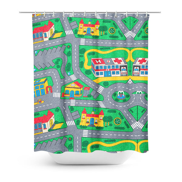 Carpet Track Shower Curtain-Gooten-| All-Over-Print Everywhere - Designed to Make You Smile