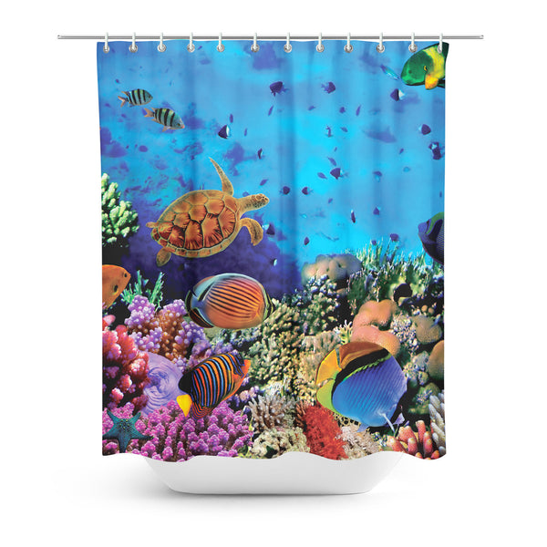 Coral Shower Curtain-Gooten-One Size-| All-Over-Print Everywhere - Designed to Make You Smile