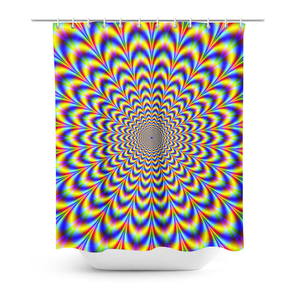 Fractal Pulse Shower Curtain-Gooten-| All-Over-Print Everywhere - Designed to Make You Smile