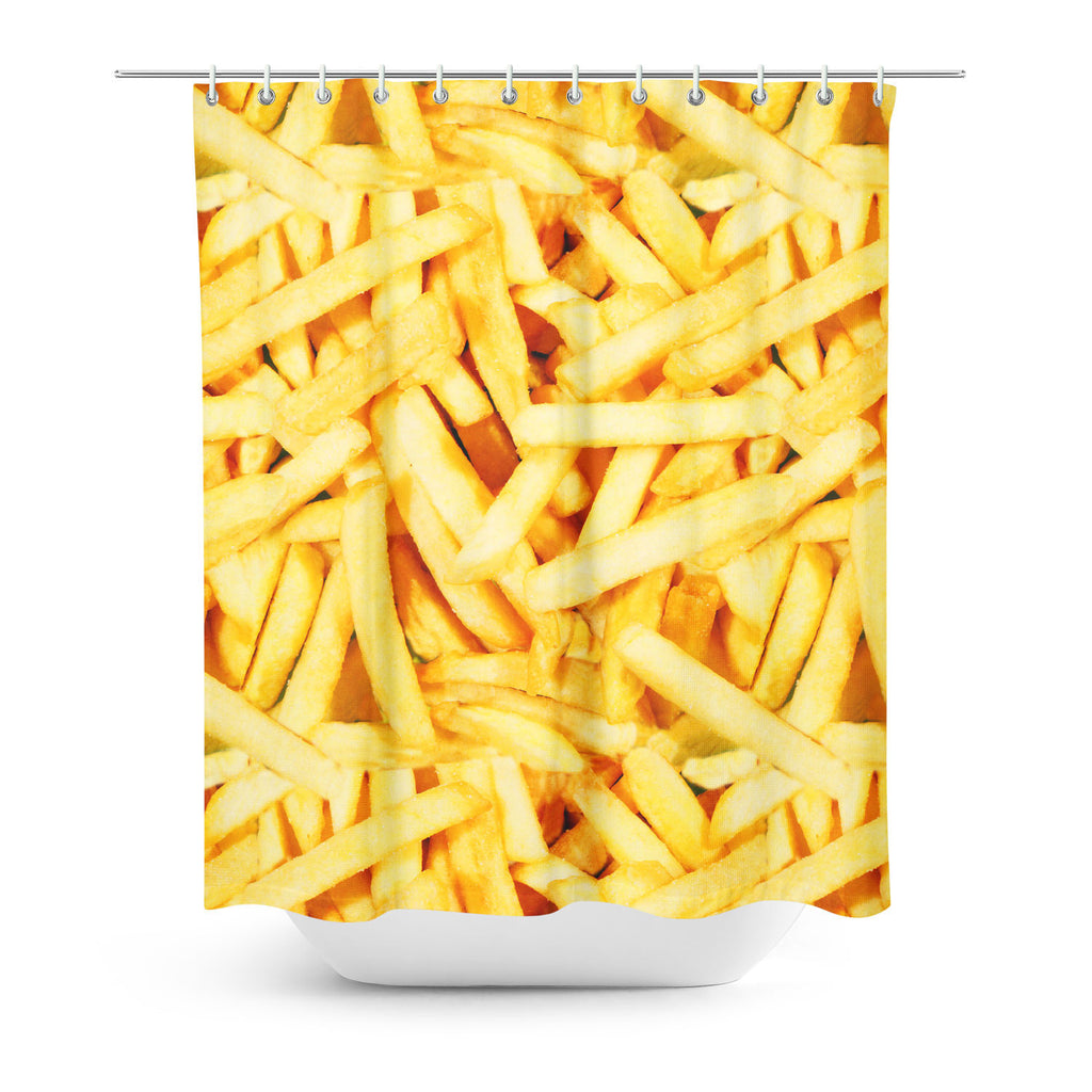 French Fries Shower Curtain-Gooten-One Size-| All-Over-Print Everywhere - Designed to Make You Smile