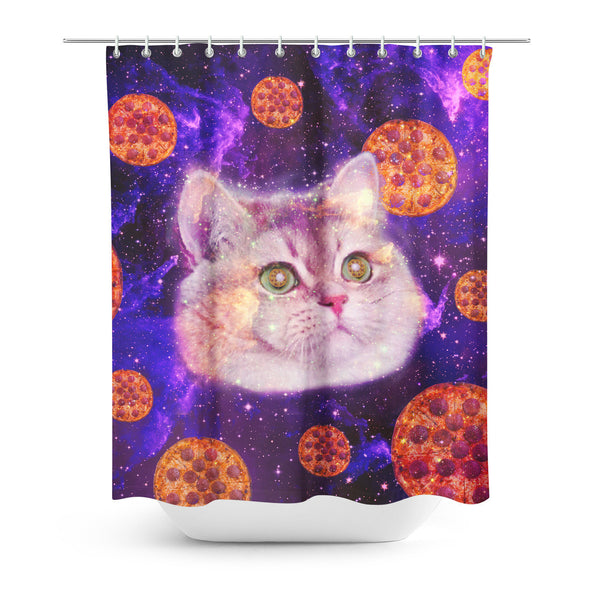 Heavy Breathing Cat Shower Curtain-Gooten-| All-Over-Print Everywhere - Designed to Make You Smile