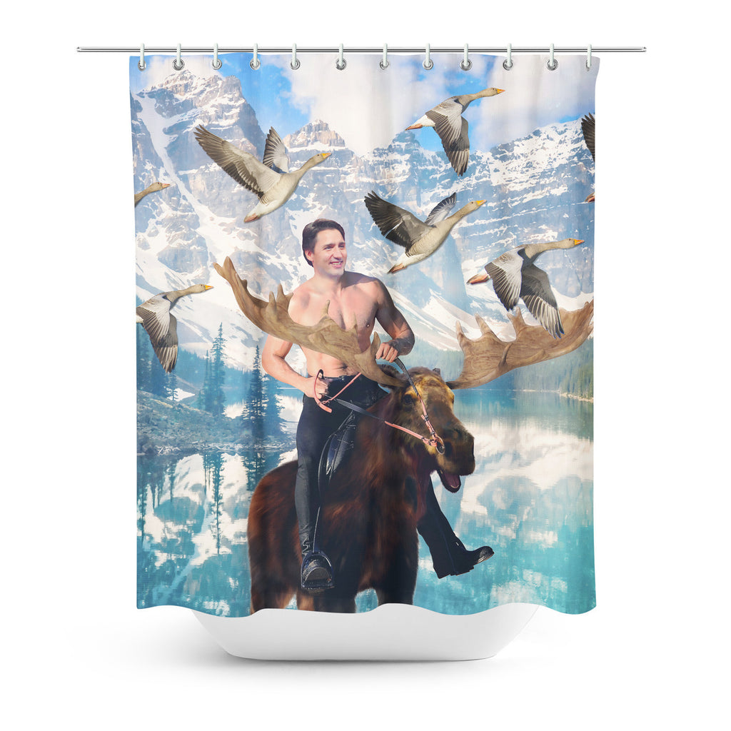 Shower Curtains - Moosin' Trudeau Shower Curtain