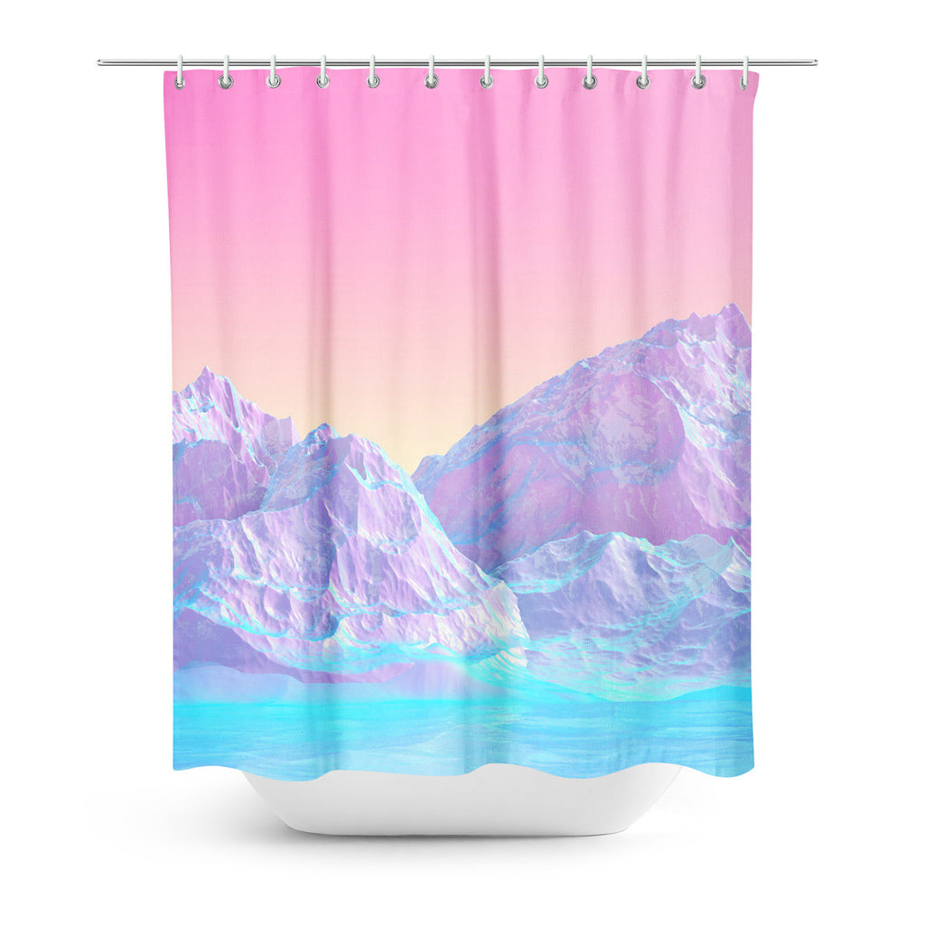 Shower Curtains - Pastel Mountains Shower Curtain