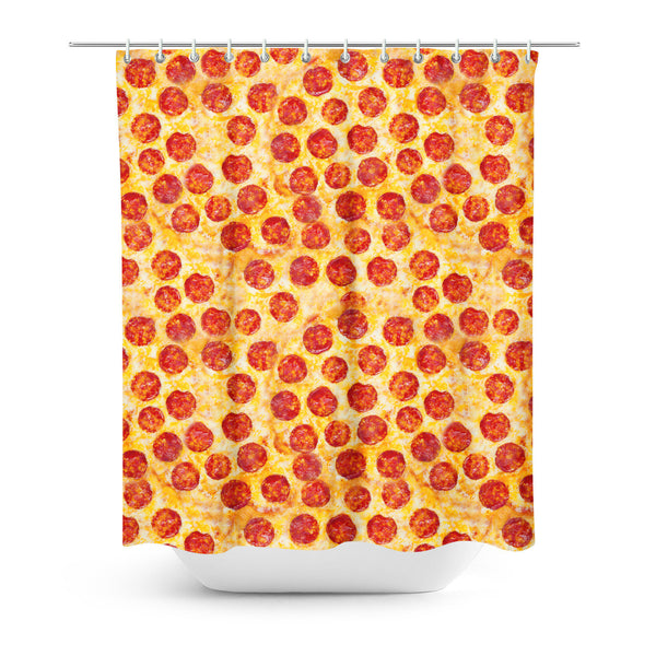 Pizza Invasion Shower Curtain-Gooten-One Size-| All-Over-Print Everywhere - Designed to Make You Smile