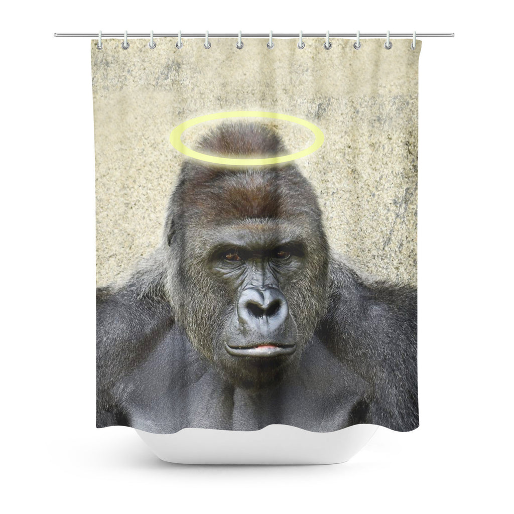 RIP Harambe Shower Curtain-Gooten-| All-Over-Print Everywhere - Designed to Make You Smile