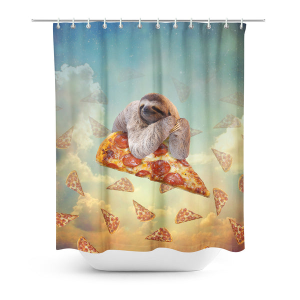 Sloth Pizza Shower Curtain