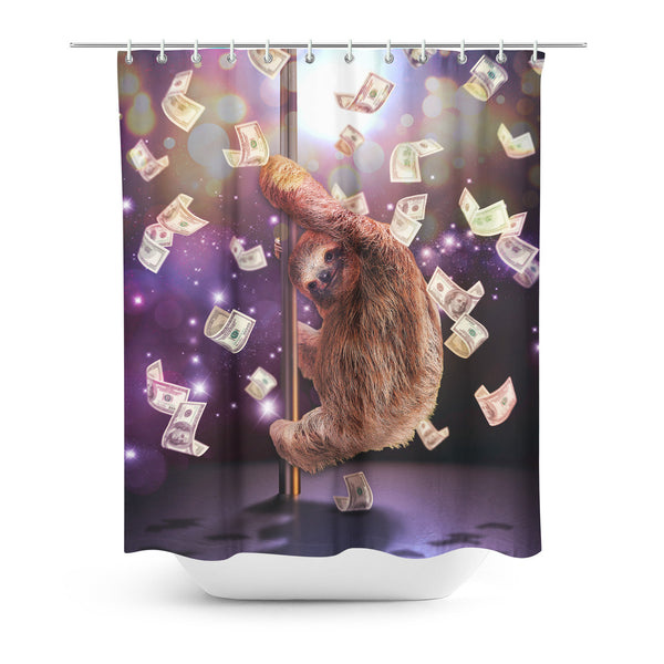 Stripper Sloth Shower Curtain-Gooten-| All-Over-Print Everywhere - Designed to Make You Smile