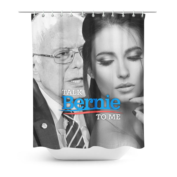 Talk Bernie To Me Shower Curtain-Gooten-| All-Over-Print Everywhere - Designed to Make You Smile