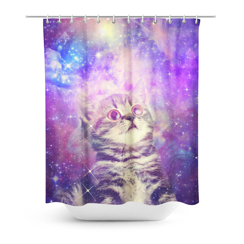 Shower Curtains - Trippin' Kitty Kat Shower Curtain
