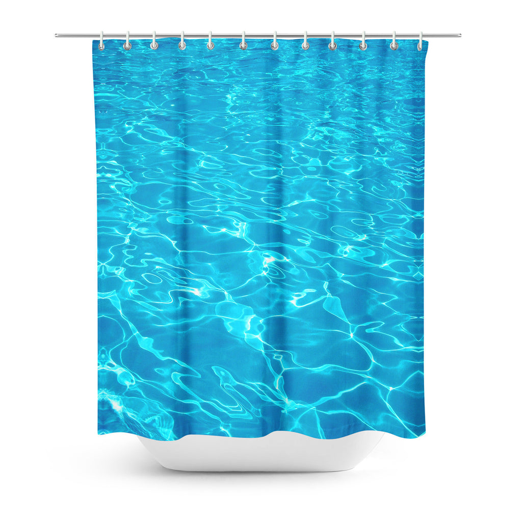 Shower Curtains - Water Shower Curtain