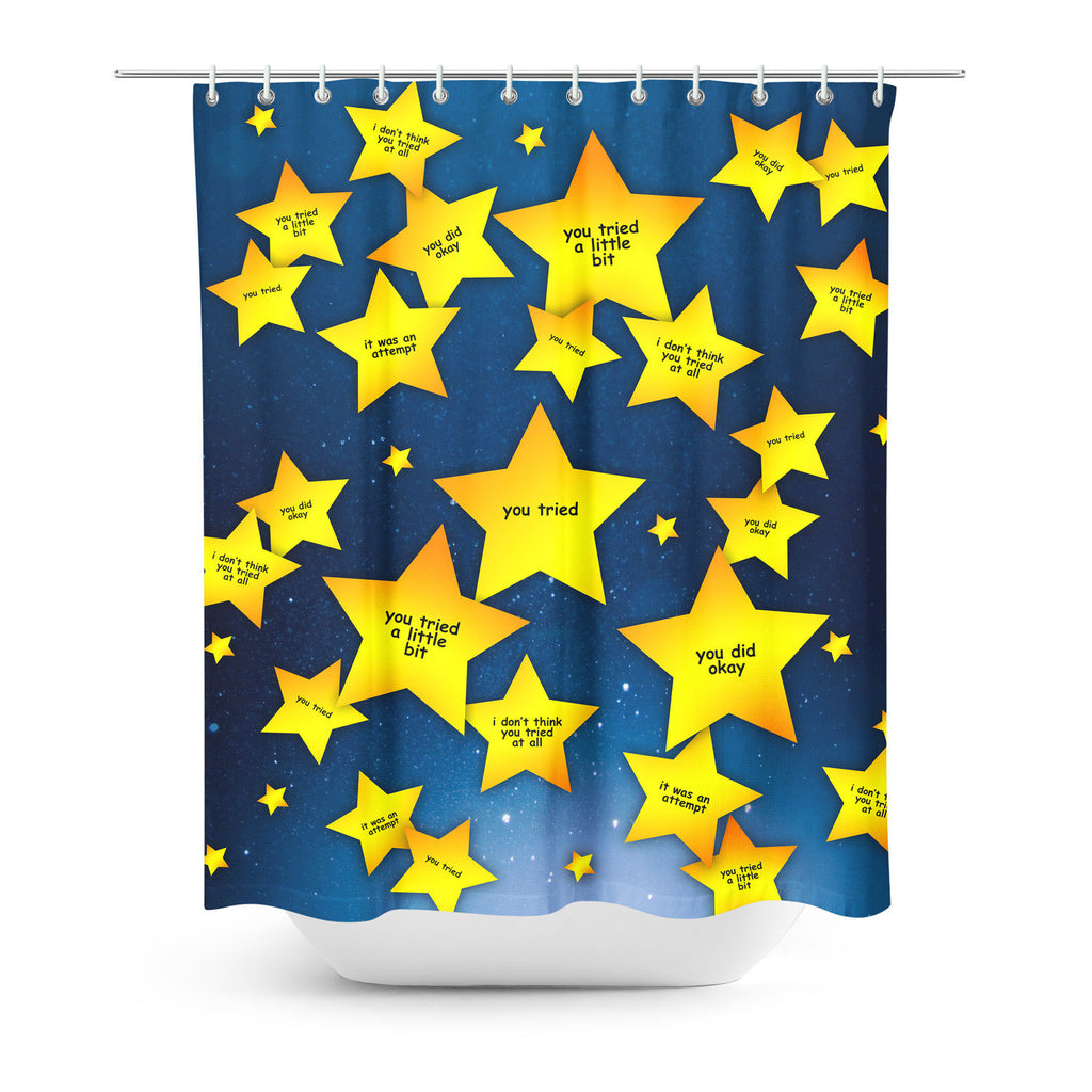 You Tried Shower Curtain-Gooten-| All-Over-Print Everywhere - Designed to Make You Smile
