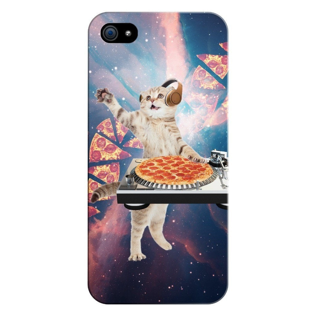 DJ Pizza Cat Smartphone Case-Gooten-iPhone 5/5s/SE-| All-Over-Print Everywhere - Designed to Make You Smile
