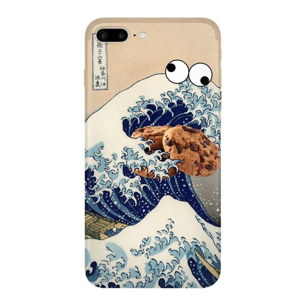 Great Wave of Cookie Monster Smartphone Case-Gooten-iPhone 7 Plus-| All-Over-Print Everywhere - Designed to Make You Smile