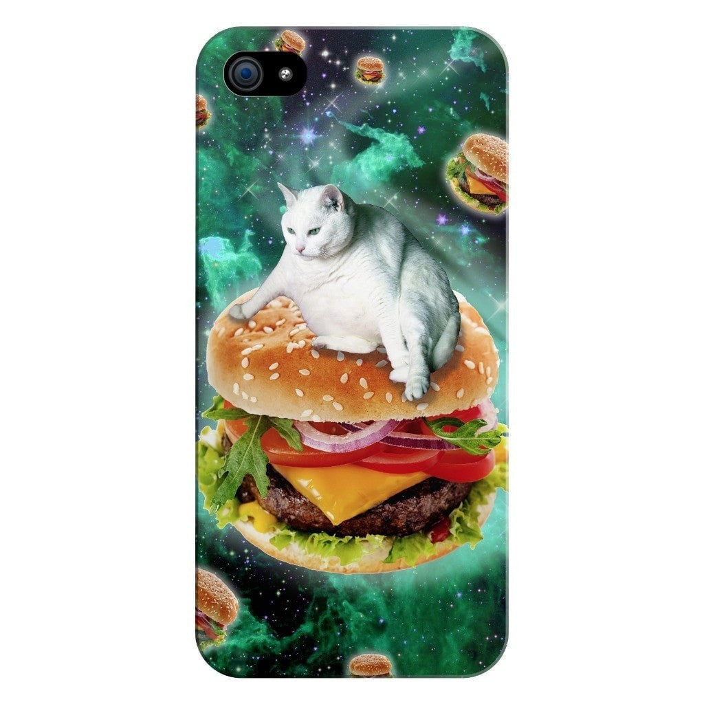 Hamburger Cat Smartphone Case-Gooten-iPhone 5/5s/SE-| All-Over-Print Everywhere - Designed to Make You Smile
