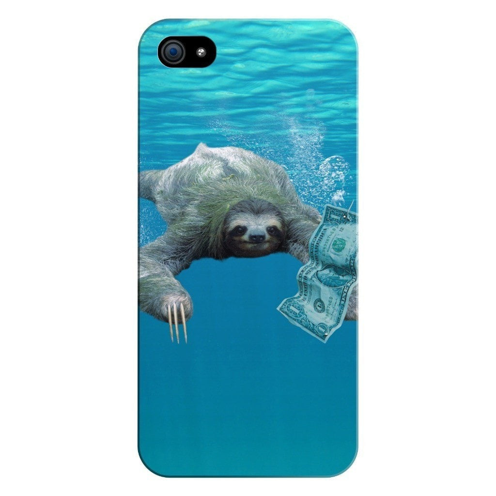 Nirvana Sloth Smartphone Case-Gooten-iPhone 5/5s/SE-| All-Over-Print Everywhere - Designed to Make You Smile