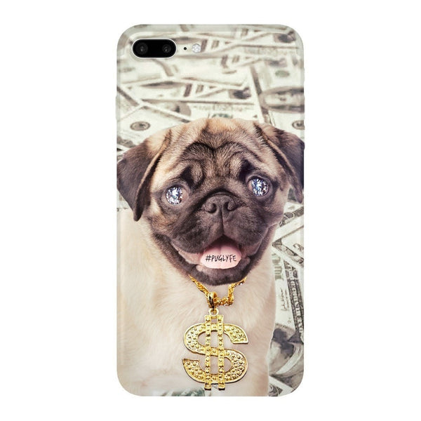 Thug Pug Smartphone Case-Gooten-iPhone 7 Plus-| All-Over-Print Everywhere - Designed to Make You Smile