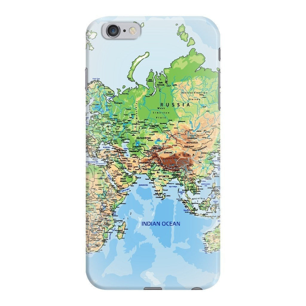 World Map Iphone 6s Case.World Map Europe Asia Smartphone Case Shelfies