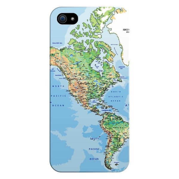 World Map The Americas Smartphone Case-Gooten-iPhone 5/5s/SE-| All-Over-Print Everywhere - Designed to Make You Smile
