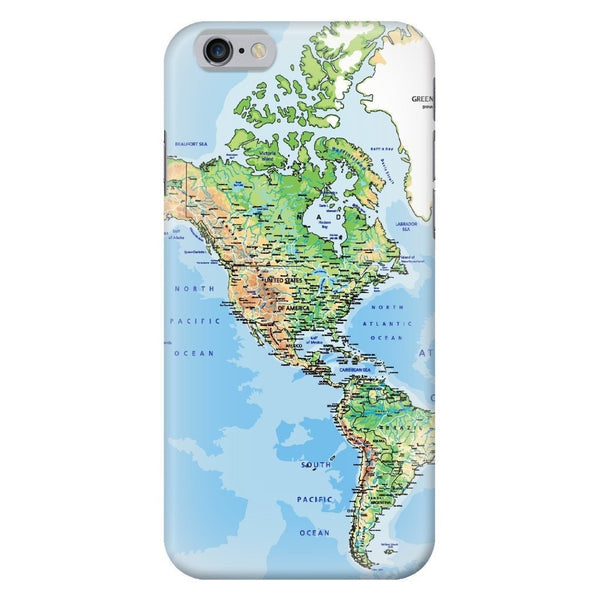 World Map The Americas Smartphone Case-Gooten-iPhone 6/6s-| All-Over-Print Everywhere - Designed to Make You Smile