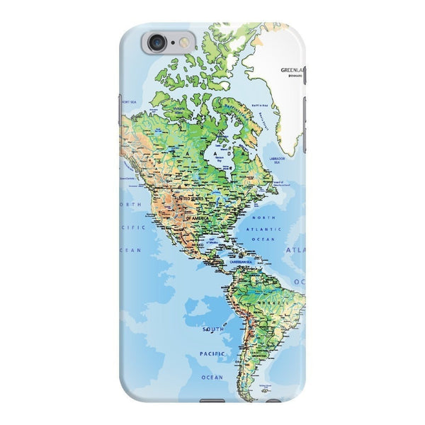 World Map The Americas Smartphone Case-Gooten-iPhone 6 Plus/6s Plus-| All-Over-Print Everywhere - Designed to Make You Smile