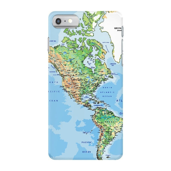 World Map The Americas Smartphone Case-Gooten-iPhone 7-| All-Over-Print Everywhere - Designed to Make You Smile