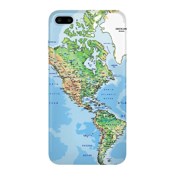 World Map The Americas Smartphone Case-Gooten-iPhone 7 Plus-| All-Over-Print Everywhere - Designed to Make You Smile