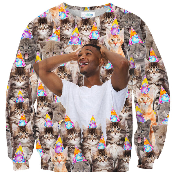 Birthday Cats Custom Clothing-Shelfies-XS-Sweater-| All-Over-Print Everywhere - Designed to Make You Smile