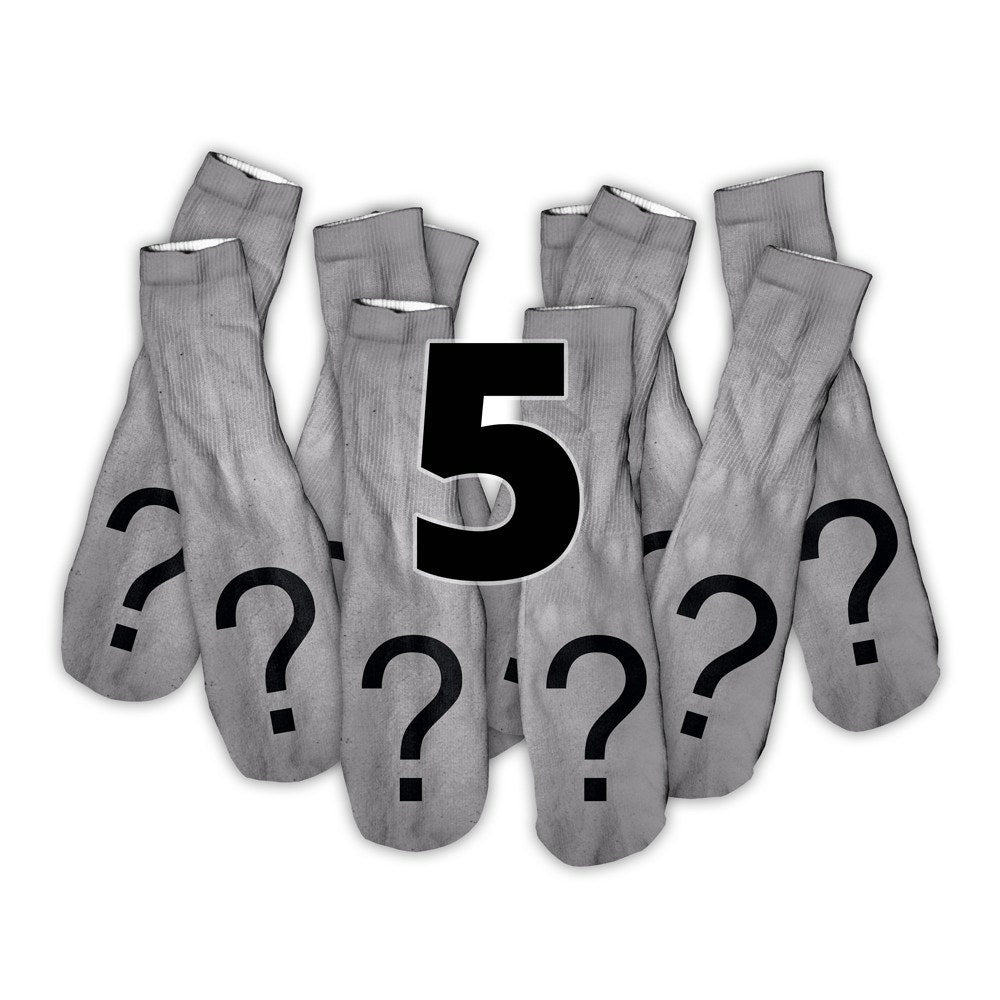 Custom Image Shelfies Foot Glove Socks-Shelfies-5 Pairs-| All-Over-Print Everywhere - Designed to Make You Smile