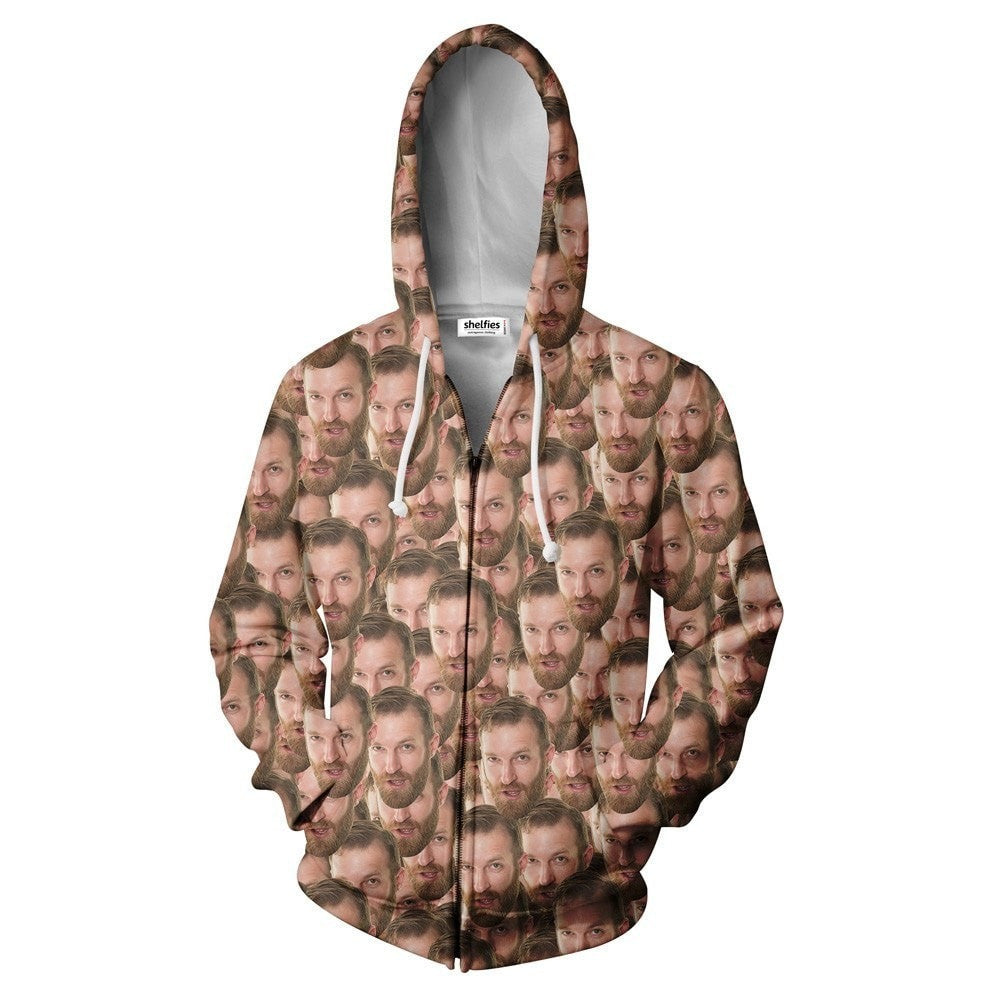 Your Face Custom Zip Hoodie-Shelfies-| All-Over-Print Everywhere - Designed to Make You Smile