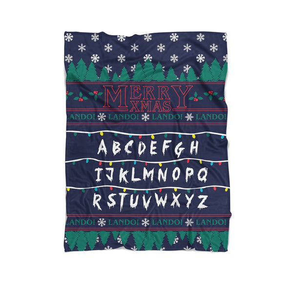 Stranger Xmas Blanket-Gooten-Cuddle-| All-Over-Print Everywhere - Designed to Make You Smile