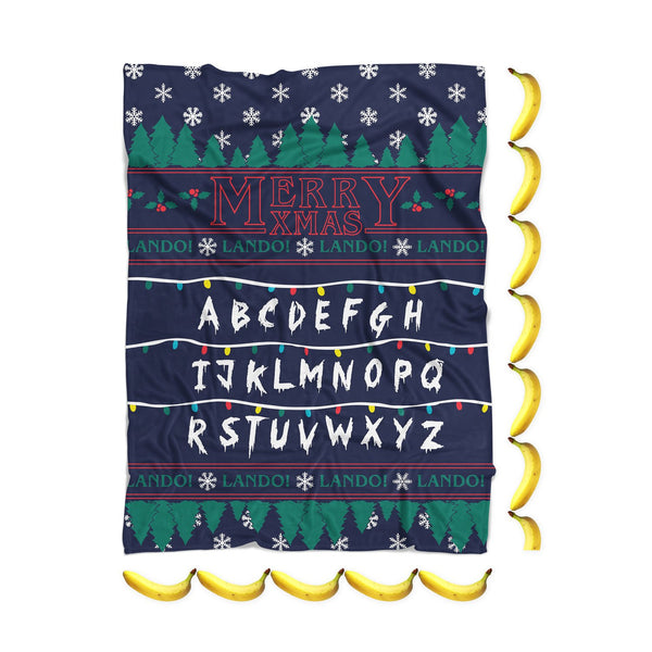 Stranger Xmas Blanket-Gooten-| All-Over-Print Everywhere - Designed to Make You Smile