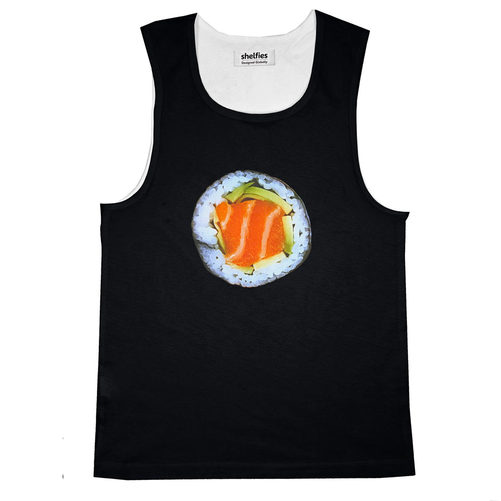 Sushi Basic Tank Top-Printify-Black-S-| All-Over-Print Everywhere - Designed to Make You Smile
