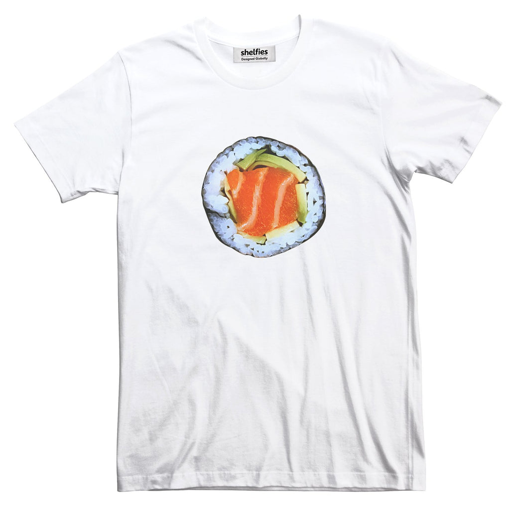 Sushi Basic T-Shirt-Printify-White-S-| All-Over-Print Everywhere - Designed to Make You Smile