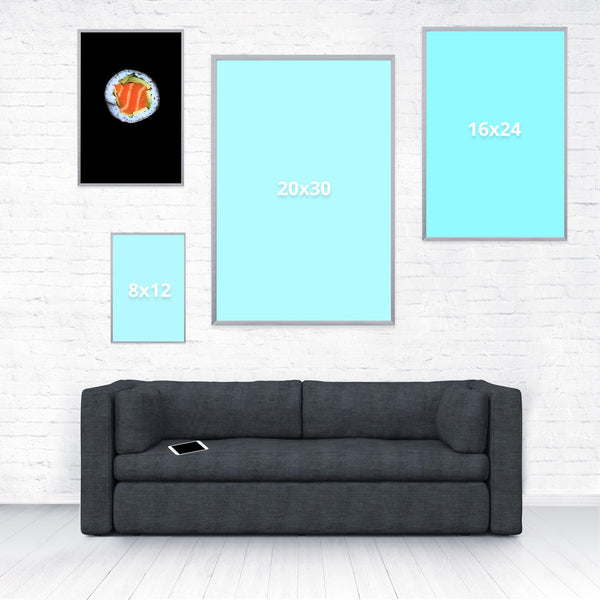 Sushi Poster-Shelfies-12 x 18-| All-Over-Print Everywhere - Designed to Make You Smile