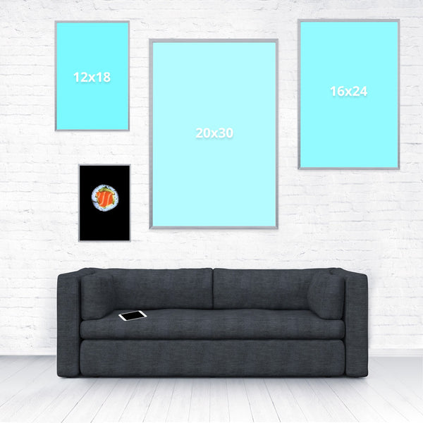 Sushi Poster-Shelfies-8 x 12-| All-Over-Print Everywhere - Designed to Make You Smile