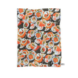 Sushi Invasion Blanket-Gooten-Cuddle-| All-Over-Print Everywhere - Designed to Make You Smile