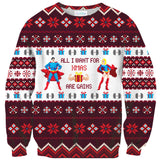 Sweaters - All I Want For Xmas Are Gains Sweater
