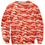Bacon Invasion Sweater-Shelfies-| All-Over-Print Everywhere - Designed to Make You Smile