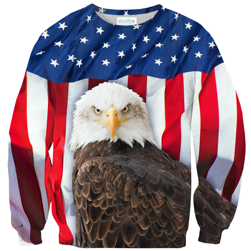 Bald Eagle Sweater-Shelfies-| All-Over-Print Everywhere - Designed to Make You Smile