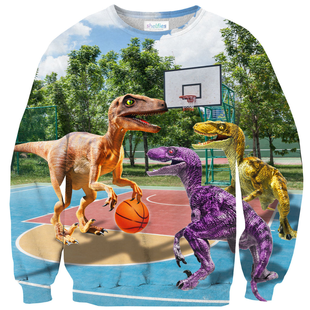 Ballin' Raptors Sweater-Shelfies-| All-Over-Print Everywhere - Designed to Make You Smile