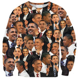Barack Obama Face Sweater-Subliminator-| All-Over-Print Everywhere - Designed to Make You Smile