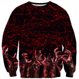 Bloody Hands Sweater-Shelfies-XS-| All-Over-Print Everywhere - Designed to Make You Smile