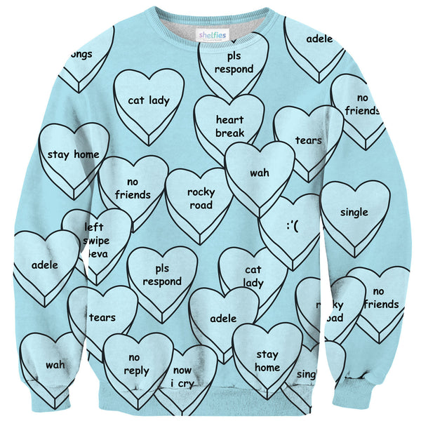 Sweaters - Blue Hearts Sweater