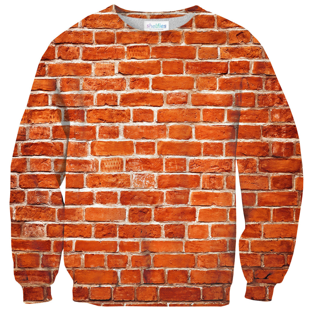 Brick Wall Sweater-Shelfies-| All-Over-Print Everywhere - Designed to Make You Smile
