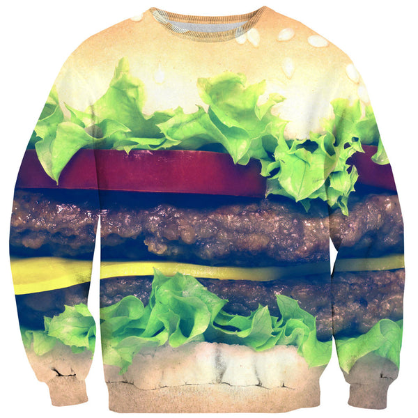 Burger Sweater-Shelfies-XS-| All-Over-Print Everywhere - Designed to Make You Smile