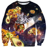 Burrito Cat Sweater-Subliminator-| All-Over-Print Everywhere - Designed to Make You Smile