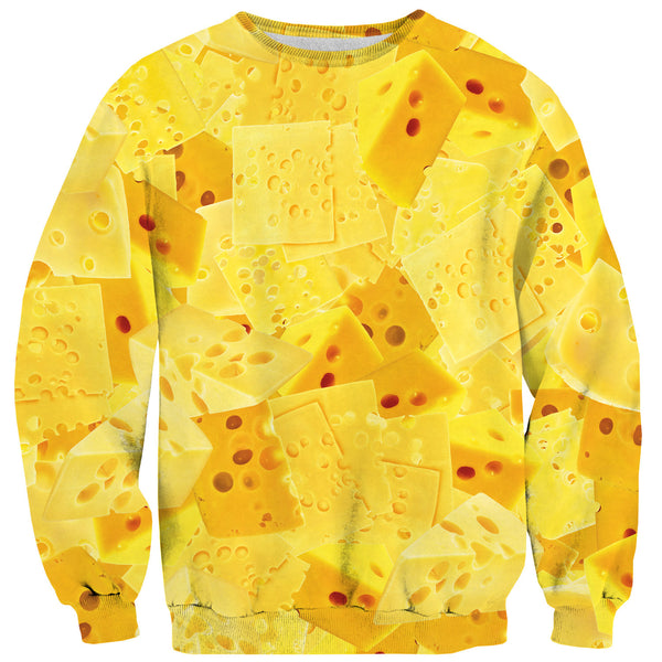 Cheezy Sweater-Shelfies-| All-Over-Print Everywhere - Designed to Make You Smile