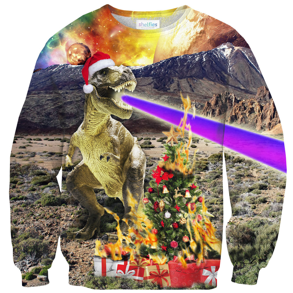 Sweaters - Christmas Dino Sweater