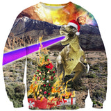 Christmas Dino Sweater-Shelfies-| All-Over-Print Everywhere - Designed to Make You Smile
