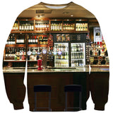 Cocktail Cats Sweater-Shelfies-| All-Over-Print Everywhere - Designed to Make You Smile